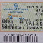 Marca da bollo 2 euro: come usarla