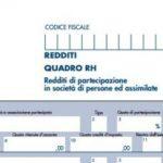 Redditi/PF rigo RH1 colonna 7: detrazione fiscale per il socio