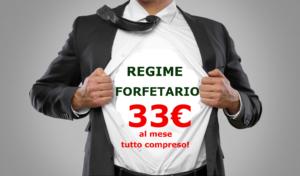 Regime forfetario a soli 33€/mese tutto compreso!